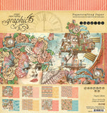 Graphic 45 - Imagine 12x12 Scrapbook Collection Pack, 16 papers, sticker sheet