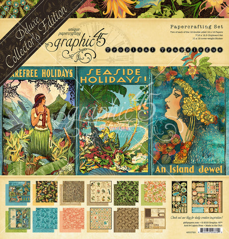 Graphic 45 - Tropical Travelogue 12x12 Deluxe Collectors Edition