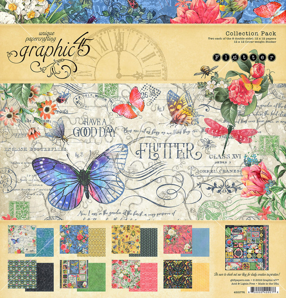 44da3fe5e9532c Graphic 45 - Flutter 12x12 Collection Pack – Oh My Scrap!