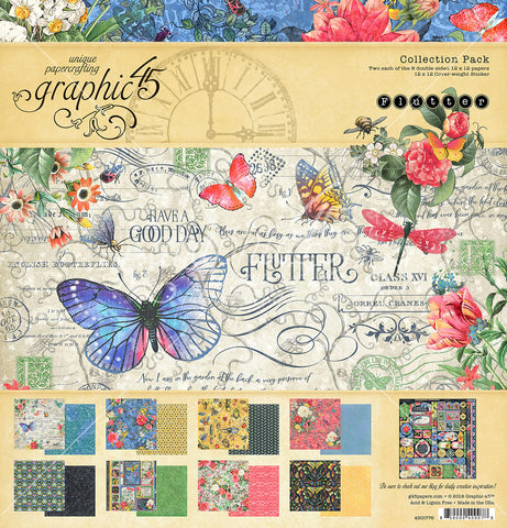 Graphic 45 - Flutter 12x12 Collection Pack