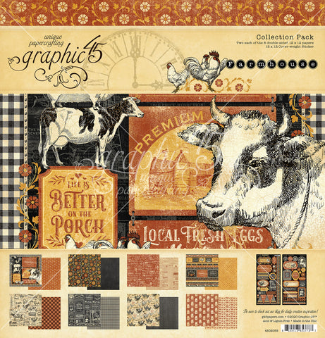Graphic 45 - Farmhouse 12x12 Collection Kit