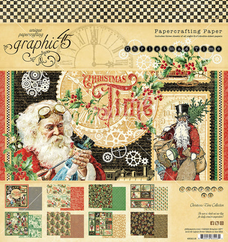 Graphic 45 - Christmas Time 8x8 Paper Pad (steampunk, vintage, gears)
