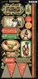 Graphic 45 - Christmas Time Stickers (steampunk, vintage, gears)