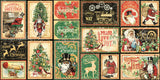 Graphic 45 - Christmas Time Ephemera and Journaling Cards (steampunk, vintage, gears)