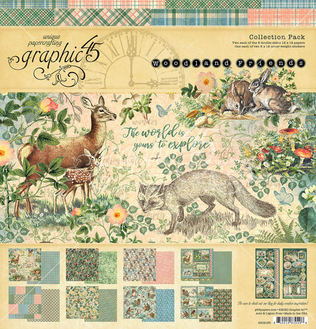 Graphic 45 - Woodland Friends 12x12 Collection Pack