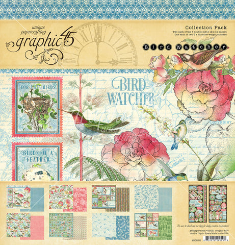 Graphic 45 - Bird Watcher 12x12 Collection Pack