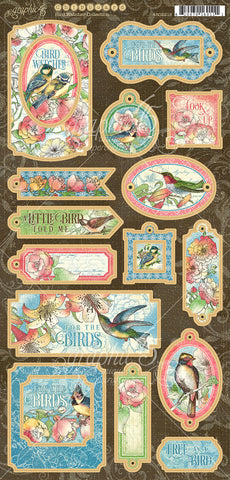 Graphic 45 - Bird Watcher - Chipboard Pieces