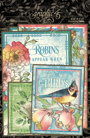 Graphic 45 - Bird Watcher Ephemera Journaling Cards