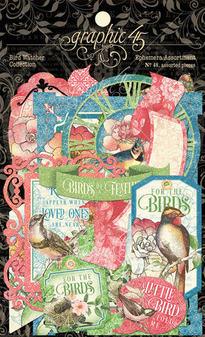 Graphic 45 - Bird Watcher Ephemera Die Cut Assortment