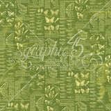 Graphic 45 - Nature Sketchbook 6x6 Patterns and Solids Paper Pad, Butterflies, Botanical