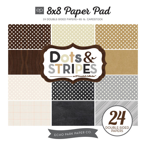 Echo Park 8x8 Dots & Stripes Neutrals
