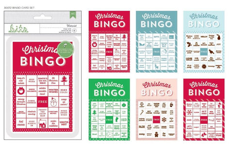 American Crafts - Wintermint Bingo Cards, Christmas, Games, Embellishments