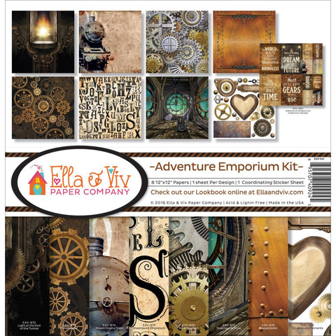Ella & Viv - Adventure Emporium 12x12 Kit (Steampunk)