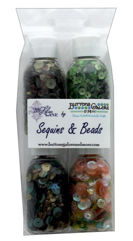 Buttons Galore 28 Lilac Lane - Autumn (4 bottles) Sequins