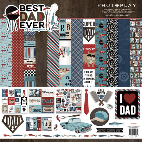 Photo Play - Best Dad Ever 12x12 Scrapbook Collection Pack
