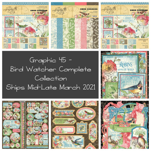 Graphic 45 - Bird Watcher 12x12 Complete Collection Bundle