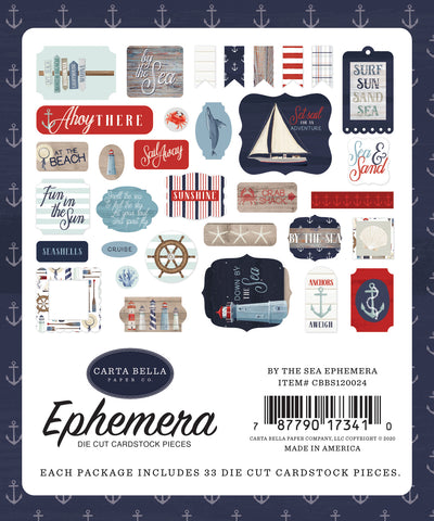 Carta Bella - By The Sea Ephemera Die Cuts