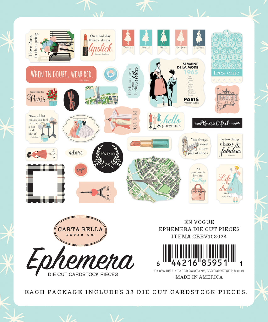 Carta Bella - En Vogue Ephemera Die Cuts