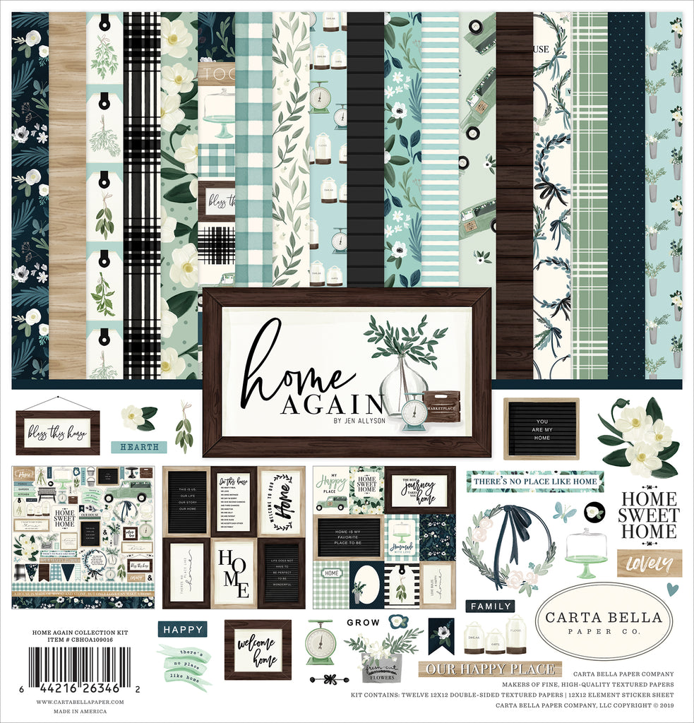 Carta Bella - Home Again 12x12 Scrapbook Collection Kit