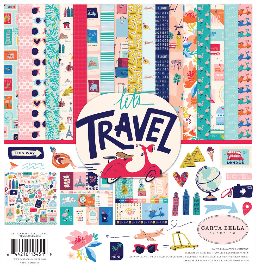 Carta Bella - Let's Travel 12x12 Collection Kit