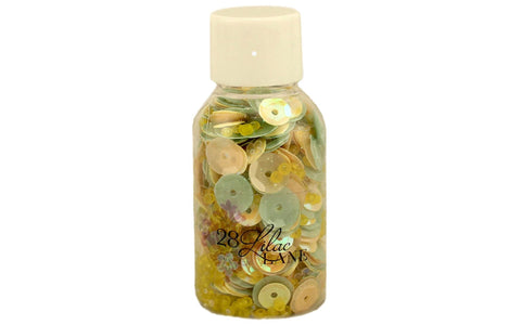 28 Lilac Lane - Chamomile Dreams Sequins (yellow, light green, flowers)