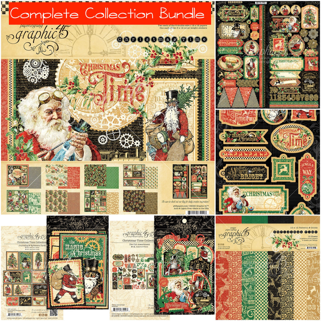 Graphic 45 - Christmas Time Complete Collection Bundle (steampunk, vintage, gears)