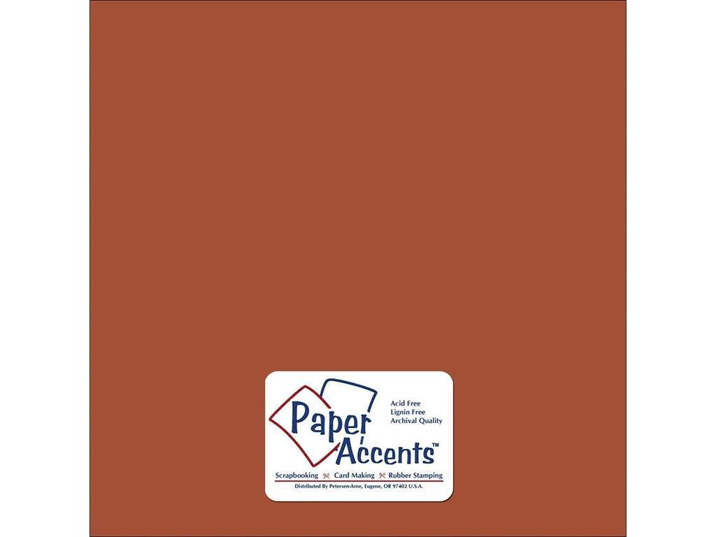 Paper Accents - Cinnamon Smooth 12x12 Cardstock 25 sheets #92