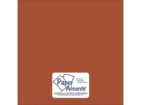 Paper Accents - Cinnamon Smooth 12x12 Cardstock 2 sheets #92