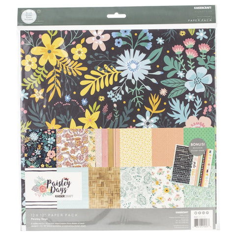 Kaisercraft - Paisley Days Collection 12x12 Paper Pack