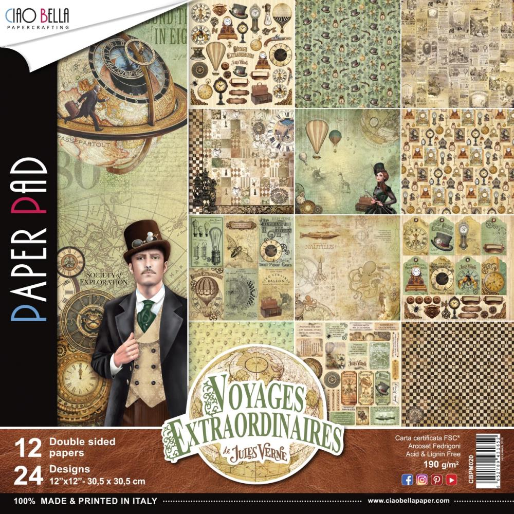 Ciao Bella - Voyages Extraordinaires Double-Sided Paper Pack