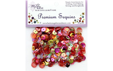 28 Lilac Lane - Coral Sequins (20 grams) - Gold, Pink, Orange, Flowers