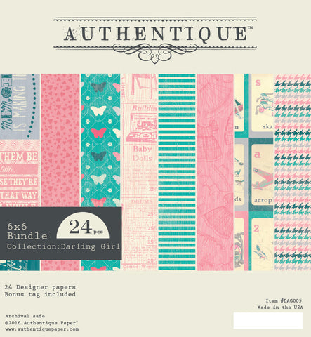 Authentique - Darling Girl 6x6 Scrapbook Paper Pad (Baby, Toddler, Vintage)
