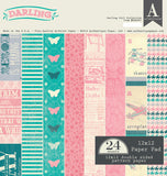 Authentique - Darling Girl 12x12 Scrapbook Paper Pad (Baby, Toddler, Vintage)