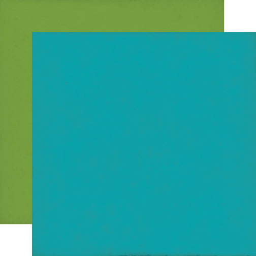 Echo Park - 12x12 Blue / Light Green Cardstock, 2 sheets #DF102018