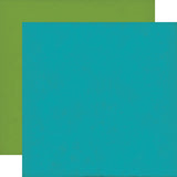 Echo Park - 12x12 Blue / Light Green Cardstock, 25 sheets #DF102018