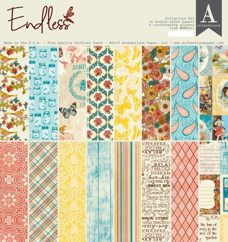 Authentique - Endless 12x12 Collection Kit (Family, Vacation, Summer)