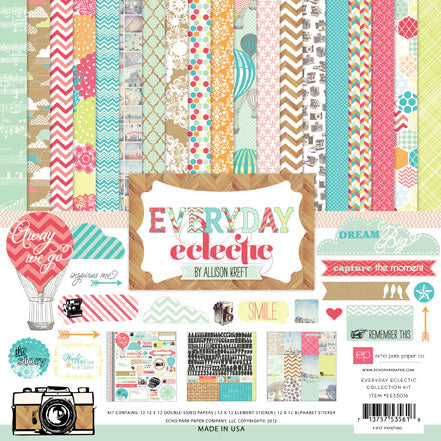 Echo Park - Everyday Eclectic 12x12 Scrapbook Collection Kit (Everyday)