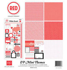 Echo Park - Red Collection 12x12 Scrapbook Mini Kit (Birthday, Valentines)