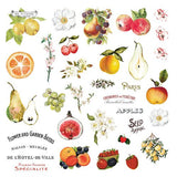 Prima Marketing - Fruit Paradise Ephemera + Stickers (Vintage, Fruit, Floral)