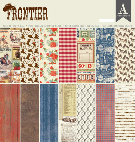 Authentique - Frontier 12x12 Scrapbook Collection Kit (Cowboy, Country, Horses)