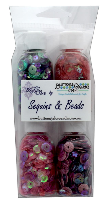 Buttons Galore 28 Lilac Lane - Flower Garden Sequins (4 bottles)