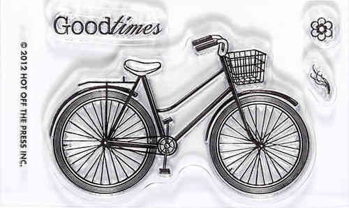 Hot Off The Press - Bike Acrylic Stamp (Goodtimes)