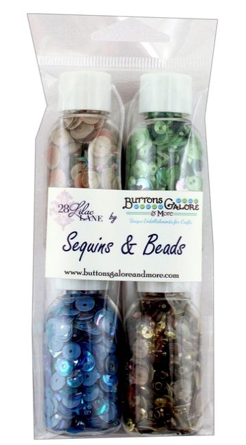 Buttons Galore 28 Lilac Lane - Great Outdoors Sequins (4 bottles)