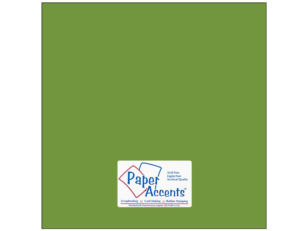 Paper Accents - Green Parrot Smooth 12x12 Stash Builder Cardstock 2 sheets #10105