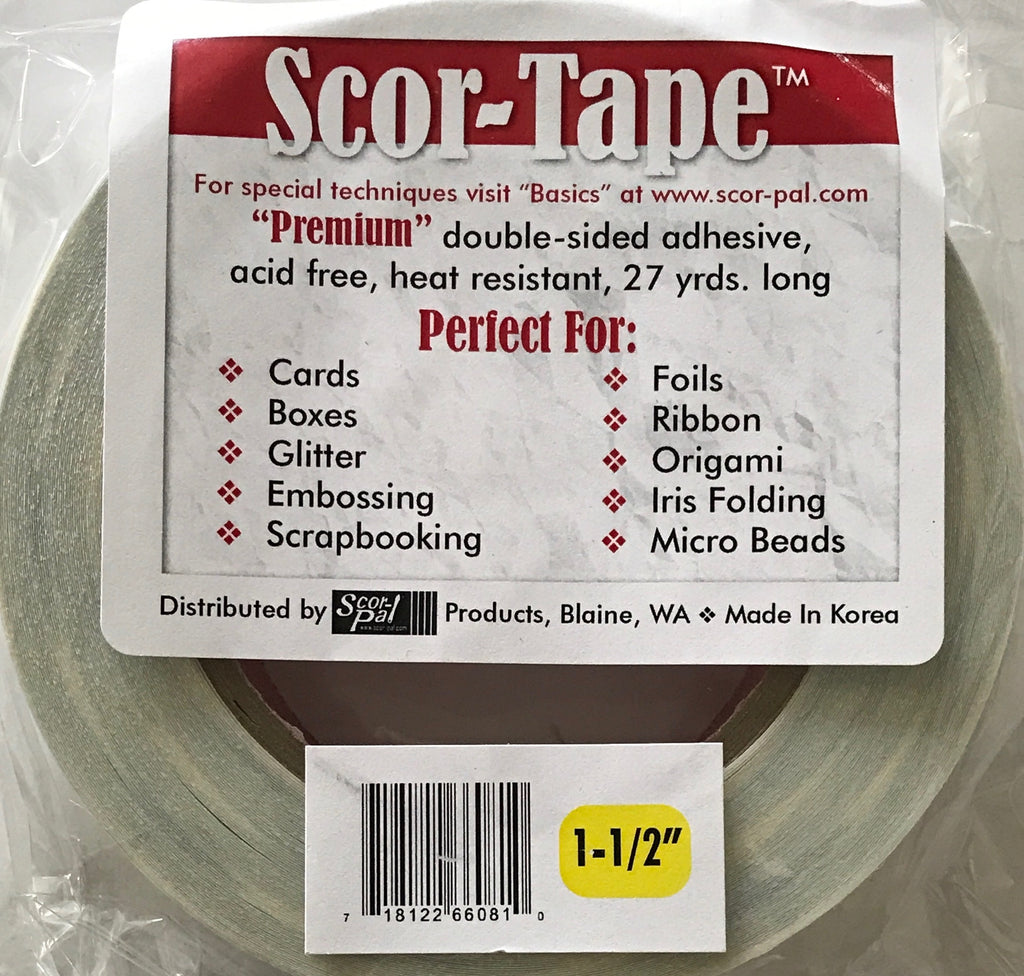 "Scor-Tape 1 1/2"" Premium double-sided adhesive, 27 yards"