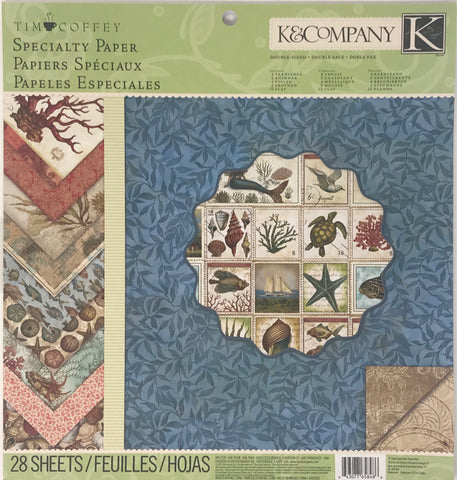 K&Company Tim Coffey Travel Specialty Paper Pad - 28 Sheets (Nautical, Ocean, Ships)