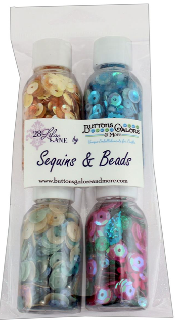 Buttons Galore 28 Lilac Lane - In Paradise Sequins (4 bottles)