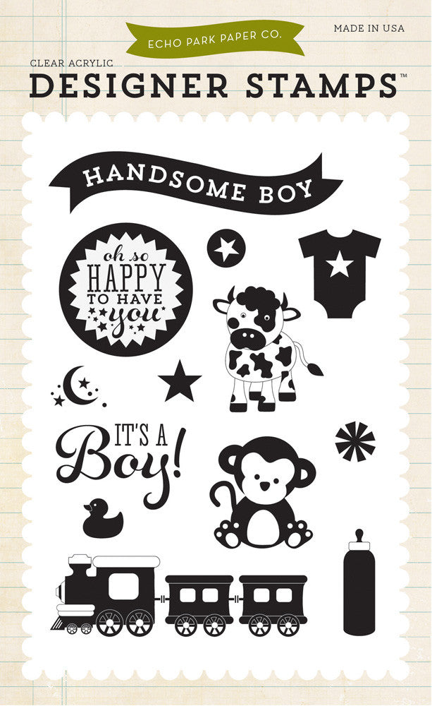 Carta Bella - Baby Boy Stamp Set (It's A Boy & Bundle of Joy 2)