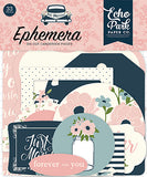 Echo Park - Just Married Ephemera Die Cuts, 33 pieces