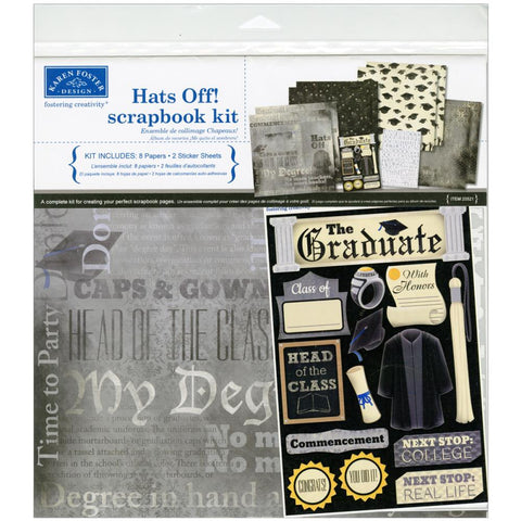 Karen Foster - Hats Off 12x12 Scrapbook Page Kit (Graduation)
